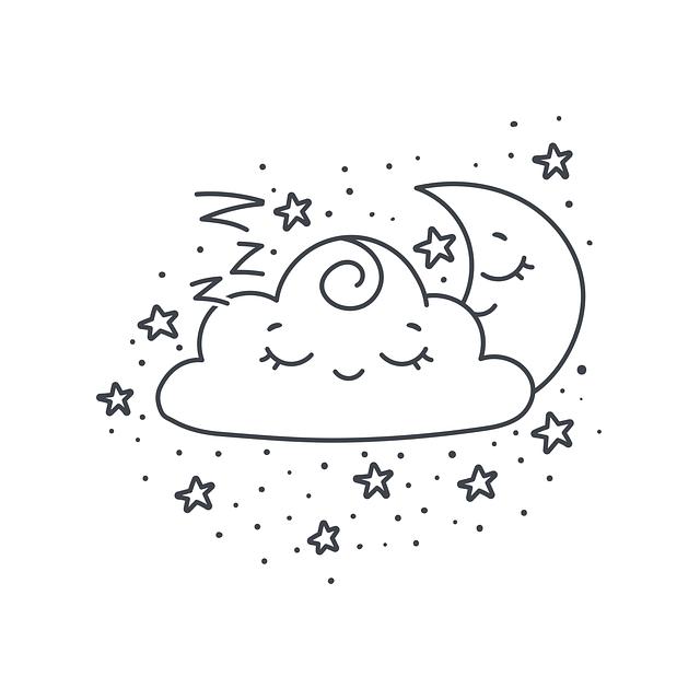 Cloud, Dream, Star, Night, Moon, Cute, Smile, Joy