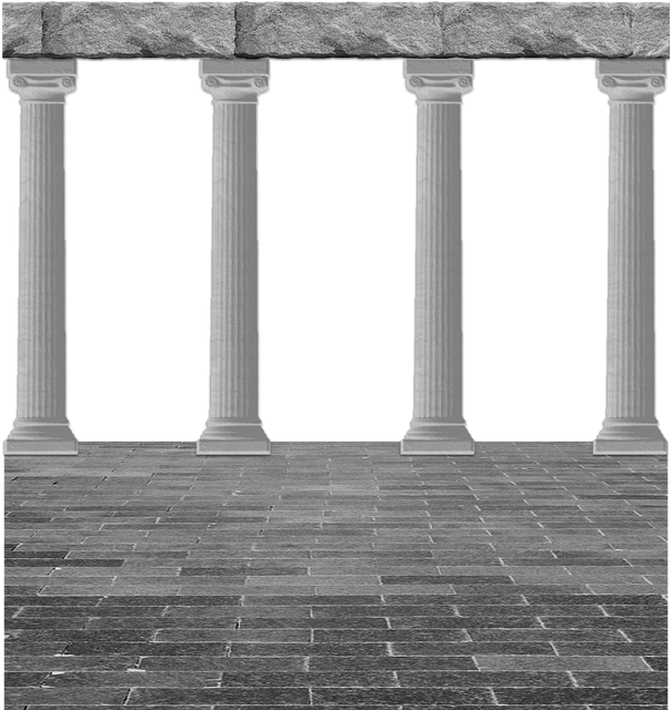 Cutout, Background, Architecture, Classical, Greek
