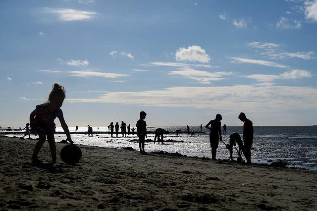 Beach, Sun, Summer, Cuxhaven, North Sea, Duhnen, Girl
