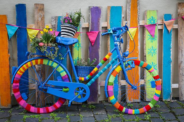 Wheel, Bike, Cycling, Color, Colorful, Crochet