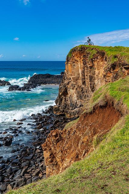 Bike-rider, Cliff, Cyclist, Action, Cycling, Bicycle