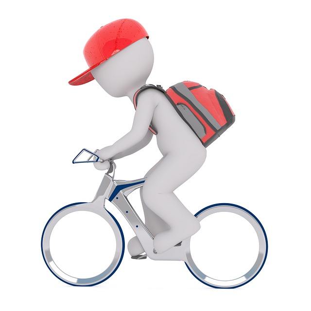 Courier, Backpack, Bike, Wheel, Velo Drahtesel, Cycling