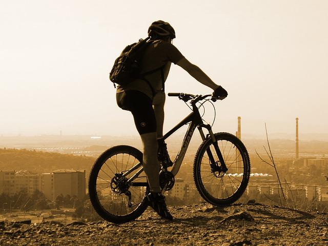 Cyclist, Cycling, Round, Mountain Bike