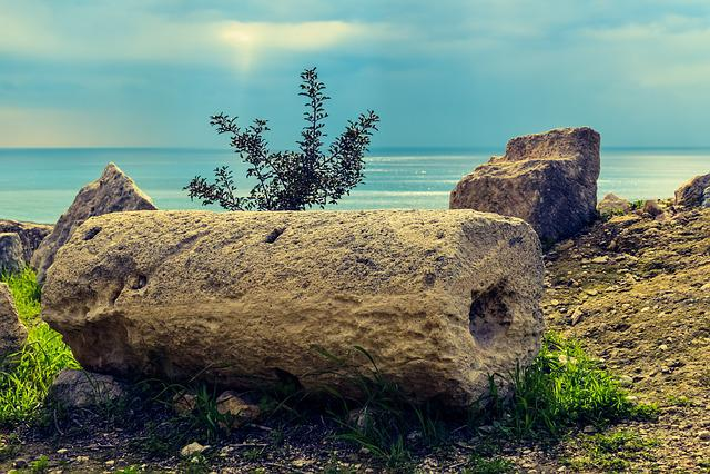 Column, Ruins, Cyprus, Kourion, Archaeology