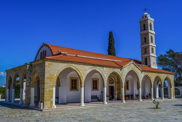 Cyprus, Larnaca, Ayios Georgios, Architecture, Religion