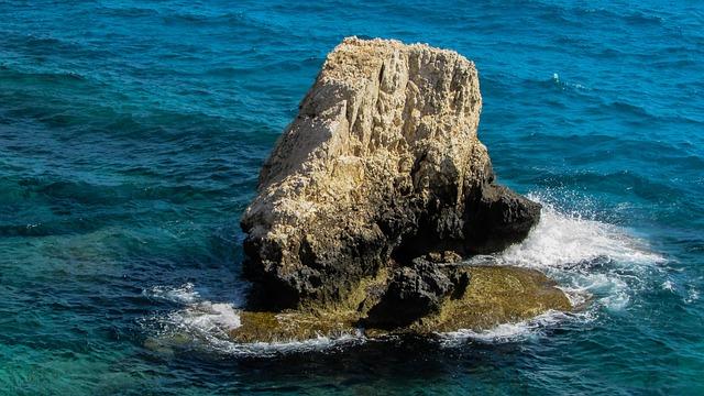 Rock, Sea, Coast, Nature, Summer, Blue, Wave, Cyprus