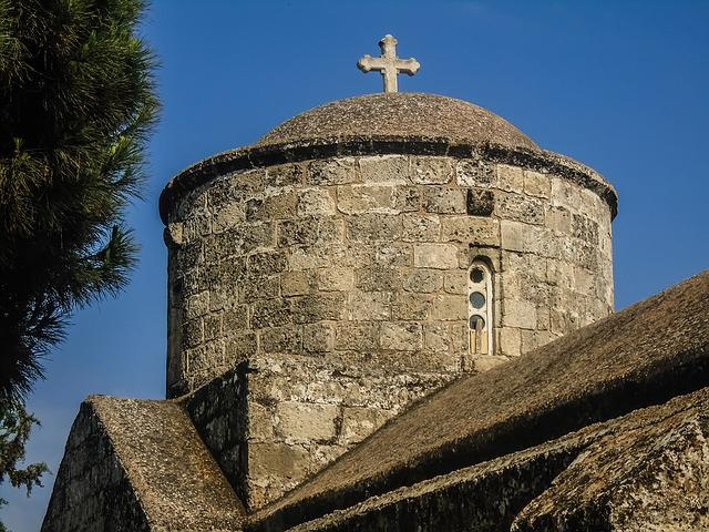Cyprus, Paralimni, Church, Ayia Anna, Architecture