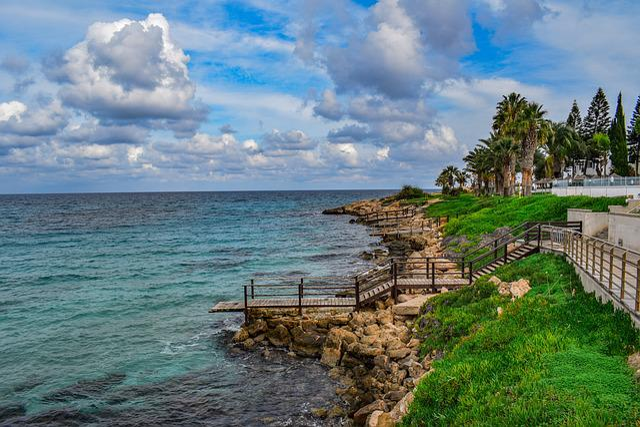Cyprus, Protaras, Coast, Seashore, Resort, Panoramic