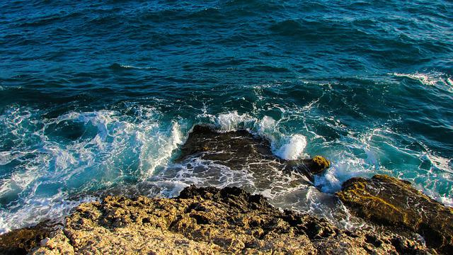 Cliff, Rock, Wave, Smashing, Nature, Sea, Cyprus
