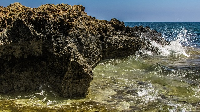 Rocky Coast, Sea, Coastline, Wave, Nature, Cyprus