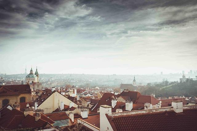 City, Sky, Clouds, Prague, Heaven, Czech Republic, Roof