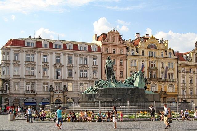 Jan Hus Monument, Statues, Prague, Czech Republic