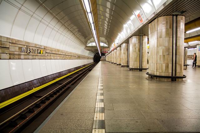 Prague, Metro, Lines, Czech Republic, Platform