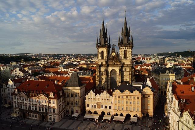 Prague, Vencel Square, Czech Republic, Church, Square