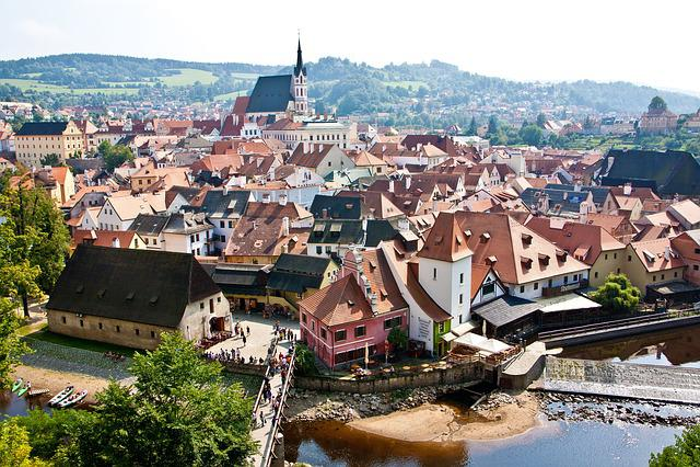 Czech Republic, Krumlov, View From Above