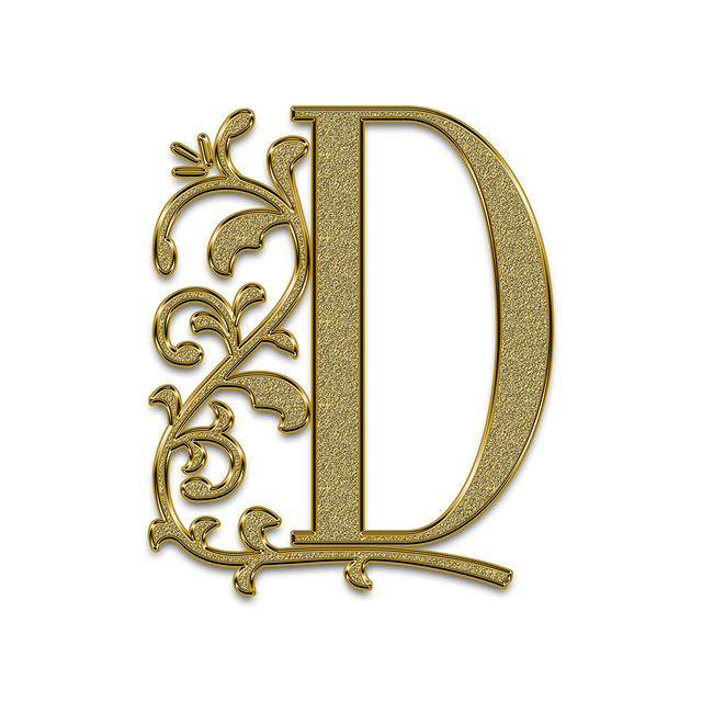 Letter, The Text Of The, Litera, Font, D, Monogram