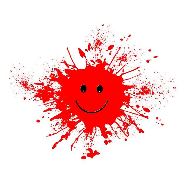 Dab, Farbkleks, Joy, Smile, Laugh, Satisfaction, Red