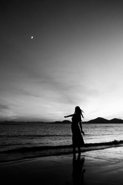 Dadaepo Beach, Monochrome, A Black And White Photo, Sea