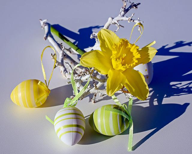 Easter Theme, Daffodil, Flower, Flowers, Yellow