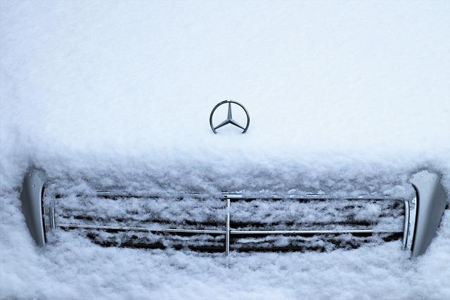 Daimler, Mercedes, Benz, Vehicle, In White, Winter, Car