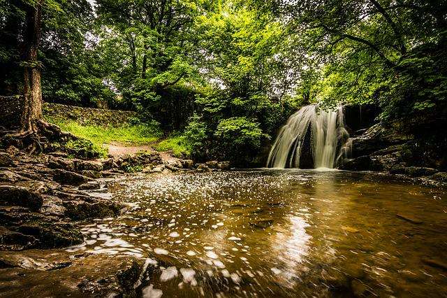 Janet's Foss, Waterfall, Malham, Dales, Yorkshire Dales