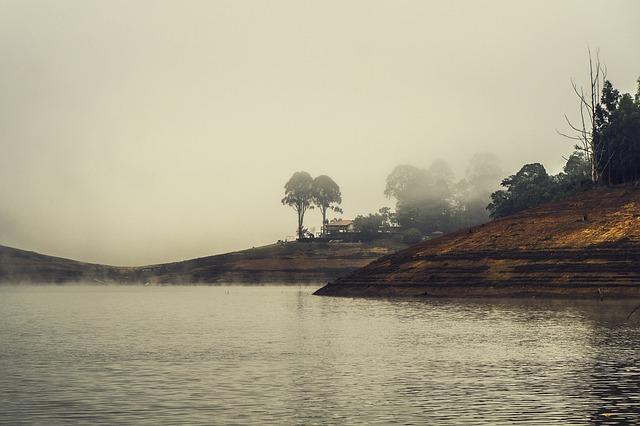 Fog, Dam, Water, Cold, Winter, São Paulo, Paraibuna