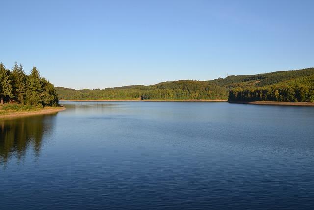Dam, Lüdenscheid, South Westphalia, Sauerland, Water