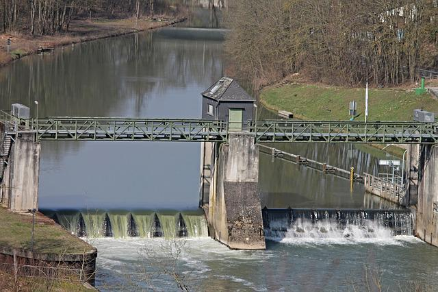 Lock, Weir, Dam, Ship Lock, Water, Barrage, River