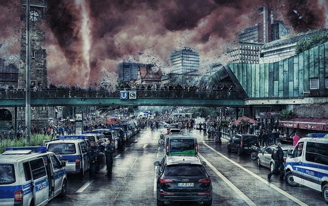 City, Transportation, Storm, Natural Disaster, Damage