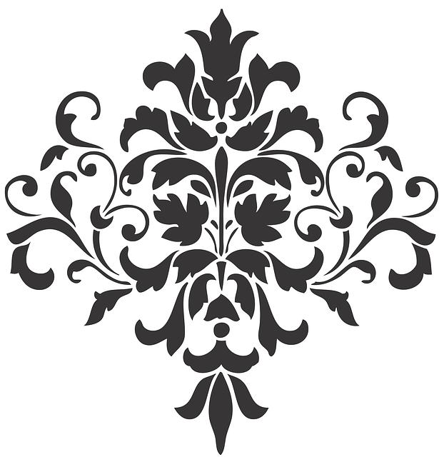 Damask, Mehndi, Tattoo, Antique, Classic, Motif