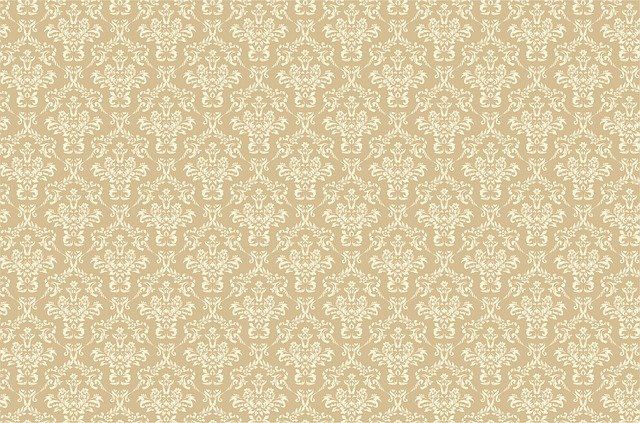 Damask, Pattern, Background, Beige, Tan, Brown