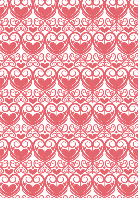 Abstract, Pattern, Damask, Decorative, Pink, Hearts