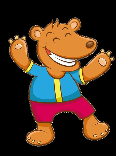Cartoon, Hand-painted, Bear, Panda, Happy, Dance, Zoo