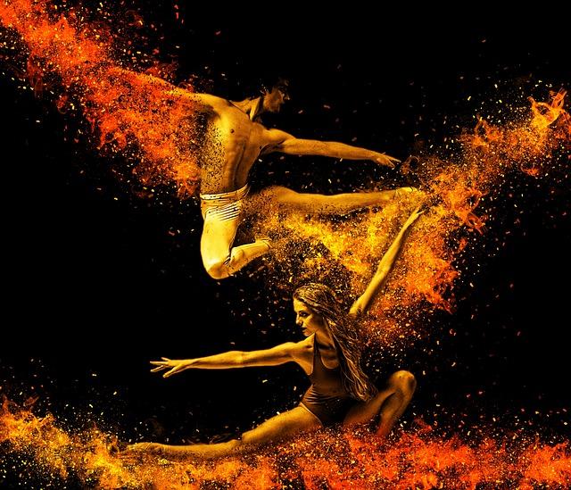Dancers, Acrobats, Pair, Dance, Acrobat, Hop