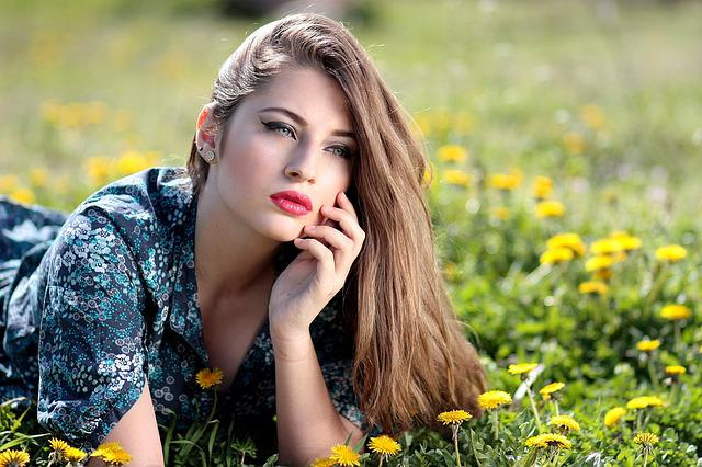 Girl, Dandelion, Yellow, Flowers, Nature, Beauty