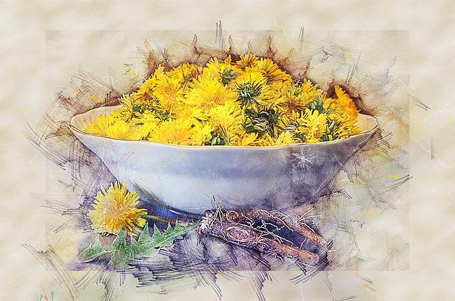 Dandelion, Health, Salad, Flowers, Recipe