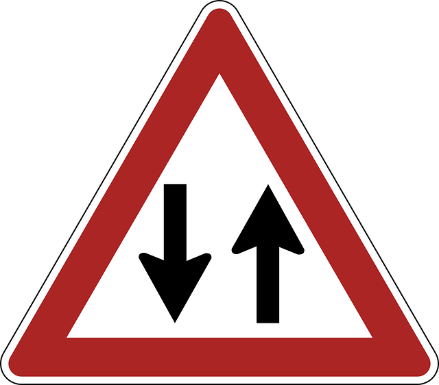 Two Way Traffic, Danger, Warning, Road Sign, Traffic