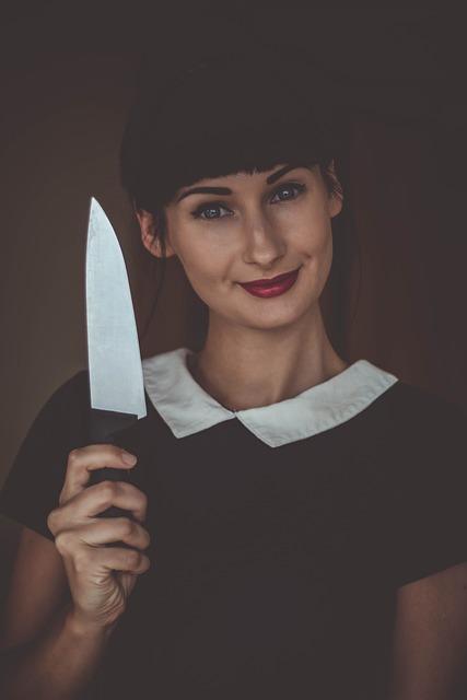 Woman, Knife, Model, Dangerous, Kitchen, Danger, Sharp