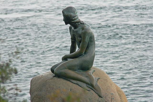 Popular, The Little Mermaid, Mermaid, Statue, Danish