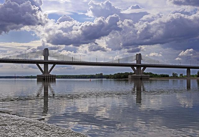 Danube, Underflow, Bridge New Europe, Romania, Bulgaria
