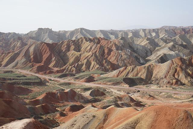 Zhangye, Danxia, Colorful