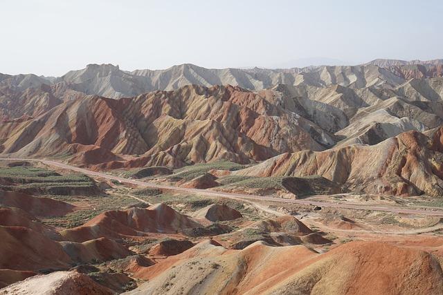 Zhangye, Danxia, Colorful