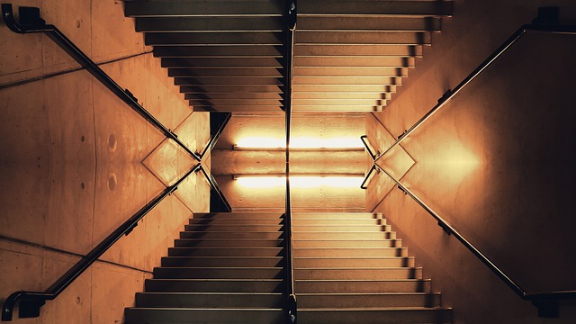 Architecture, Dark, Handrail, Light, Perspective