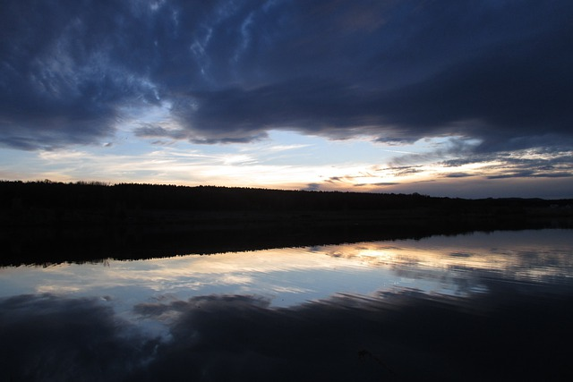 Clouds, Cloudy, Reflection, Blue, Dark Clouds