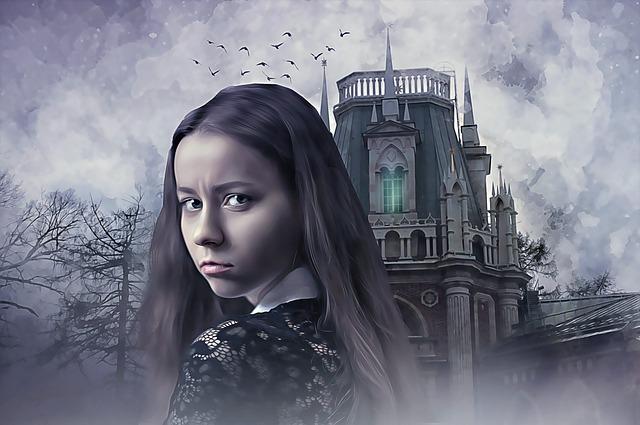 Gothic, Fantasy, Dark, Female, Woman, Girl, Young