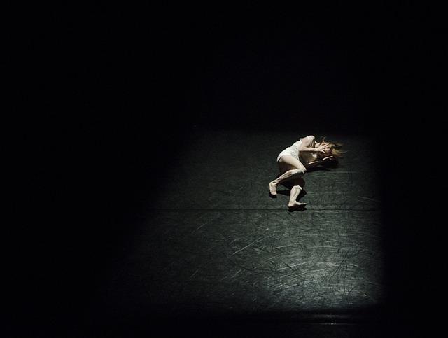 Dark, Girl, Person, Spotlight, Woman