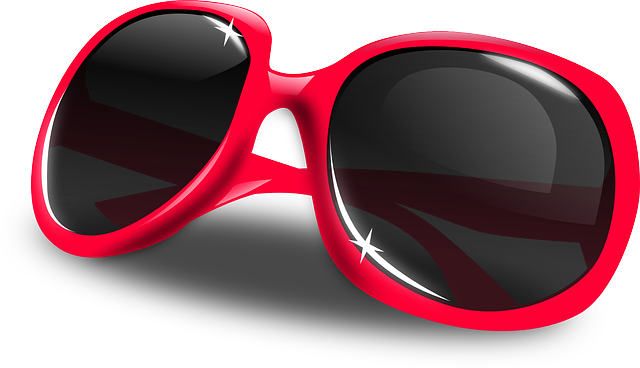 Sun Glasses, Glasses, Dark, Red, Sunglasses, Glass