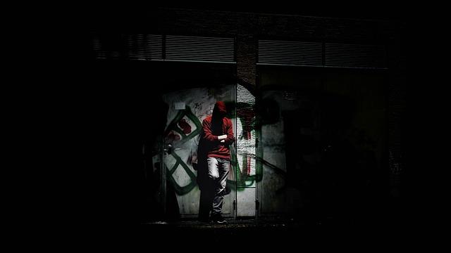 Person, Dark, Hoodie, Graffiti, Lost Place
