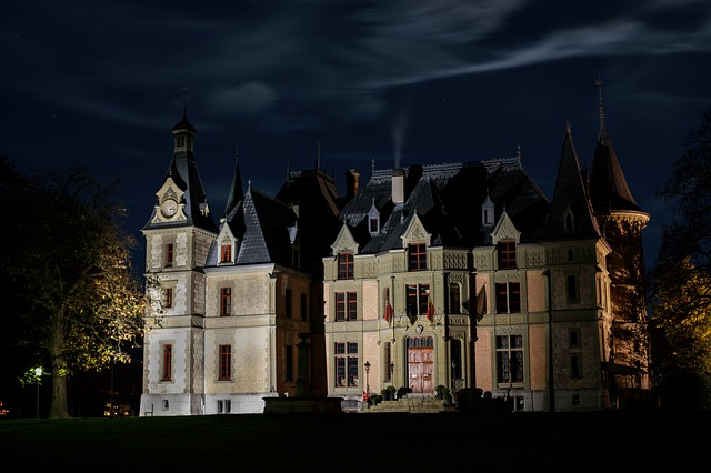 Night, Castle, Dark, Thun, Long Exposure, Atmosphere