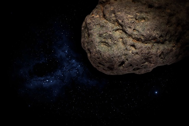 Background, Wallpaper, Blue, Dark Space, Asteroid